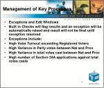 management of key processes