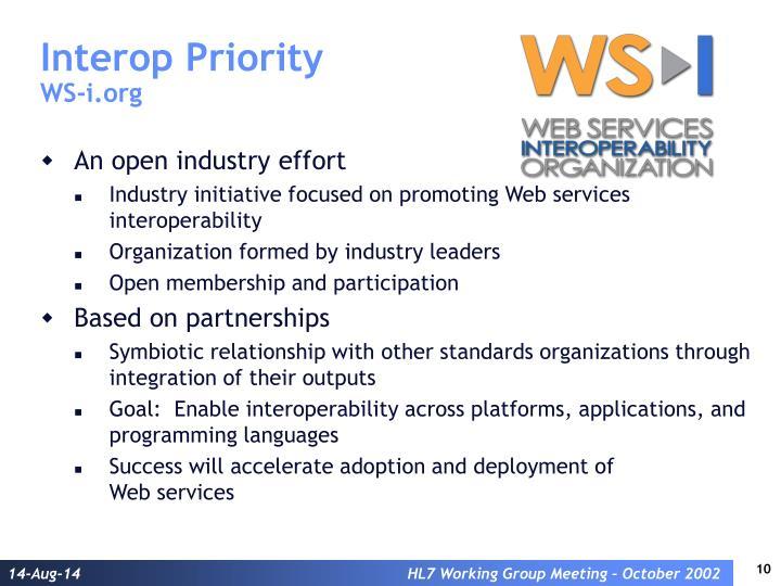 Interop Priority