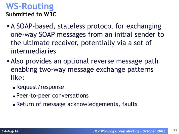 WS-Routing