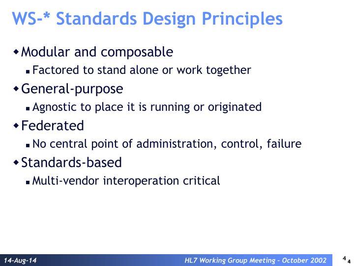 WS-* Standards Design Principles