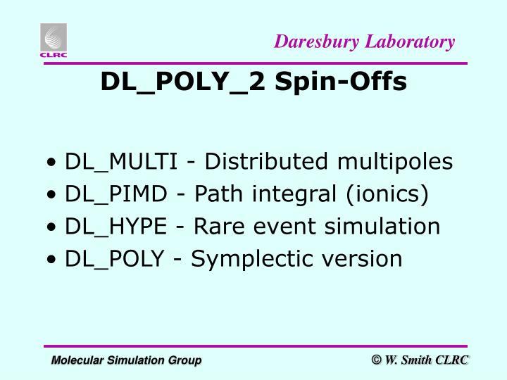 DL_POLY_2 Spin-Offs