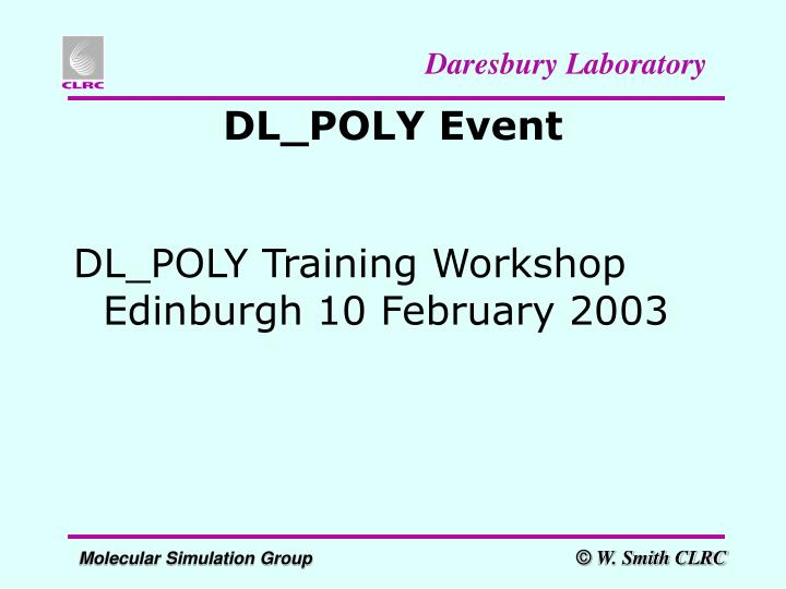 DL_POLY Event