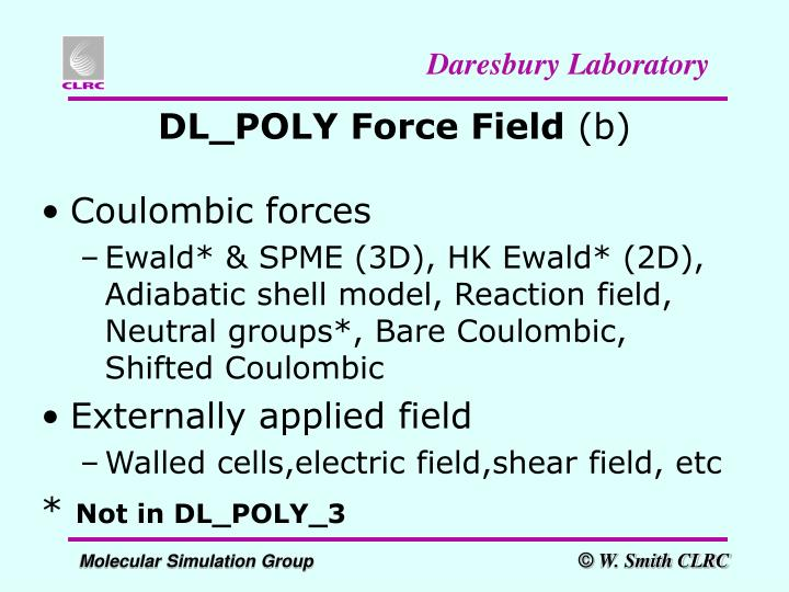 DL_POLY Force Field