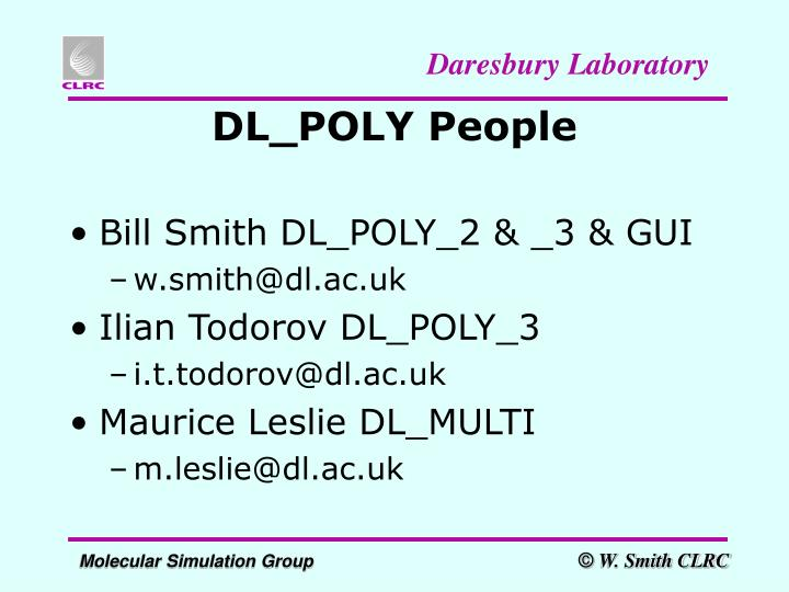 DL_POLY People