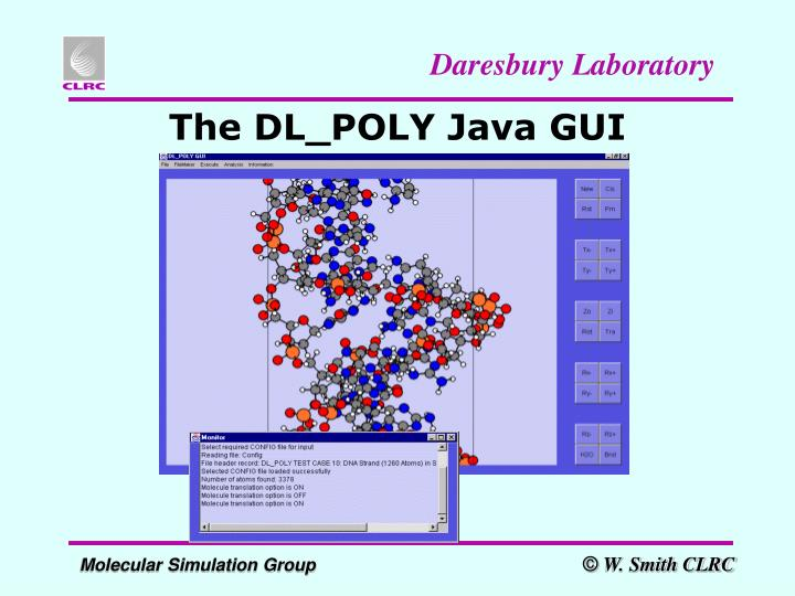 The DL_POLY Java GUI