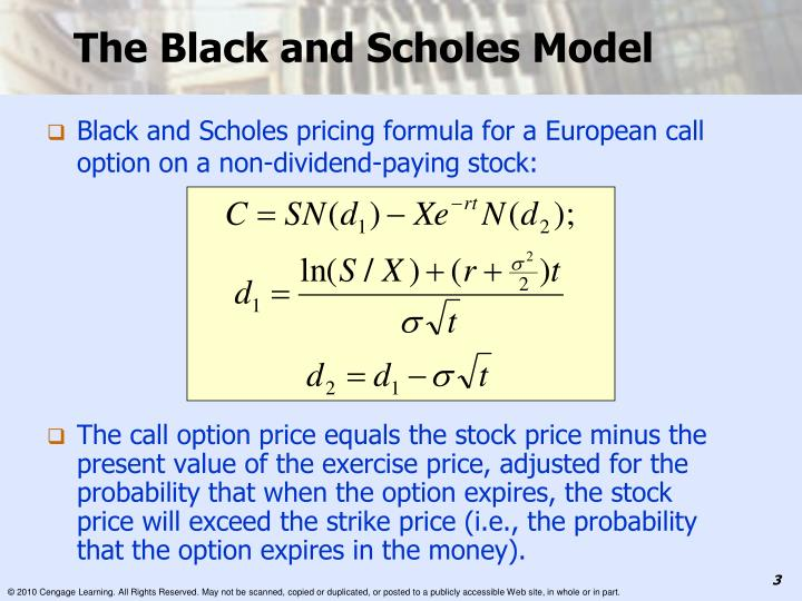 The black and scholes model1