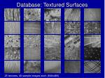 database textured surfaces
