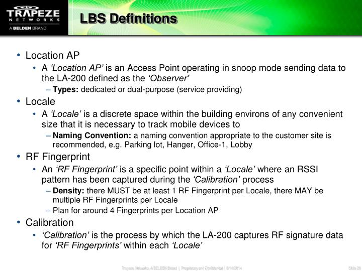LBS Definitions