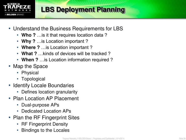 LBS Deployment Planning