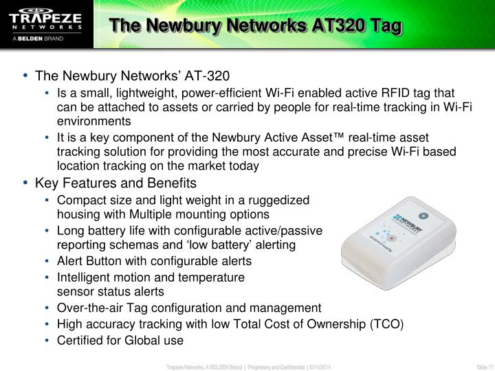 The Newbury Networks AT320 Tag