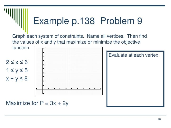 Example p.138  Problem 9
