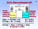 zn cu electrochemical cell