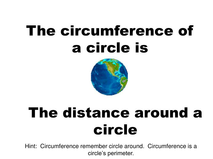 The circumference of a circle is