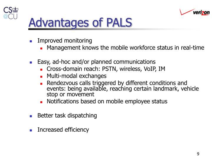 Advantages of PALS