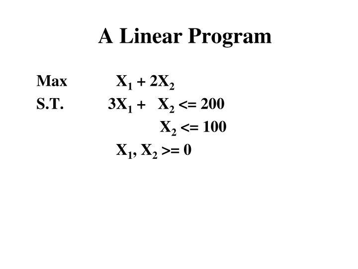 A Linear Program