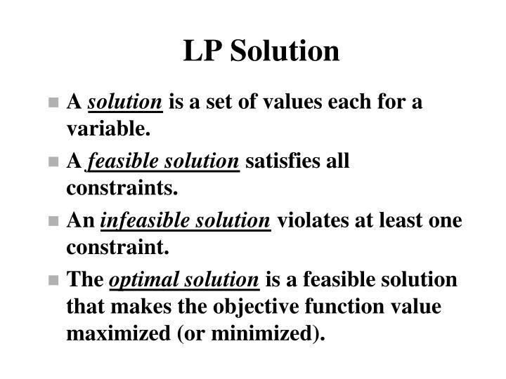 LP Solution