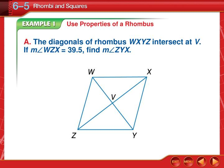 Use Properties of a Rhombus