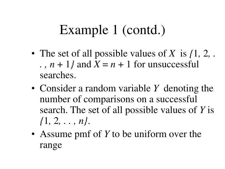 Example 1 contd