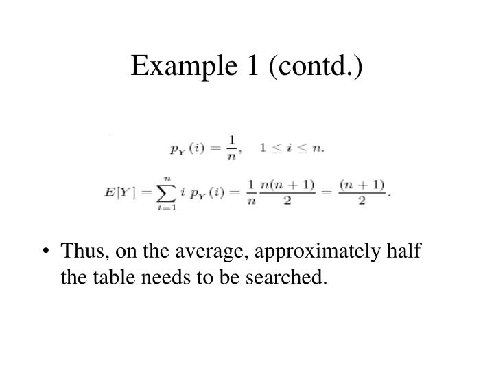 Example 1 contd1