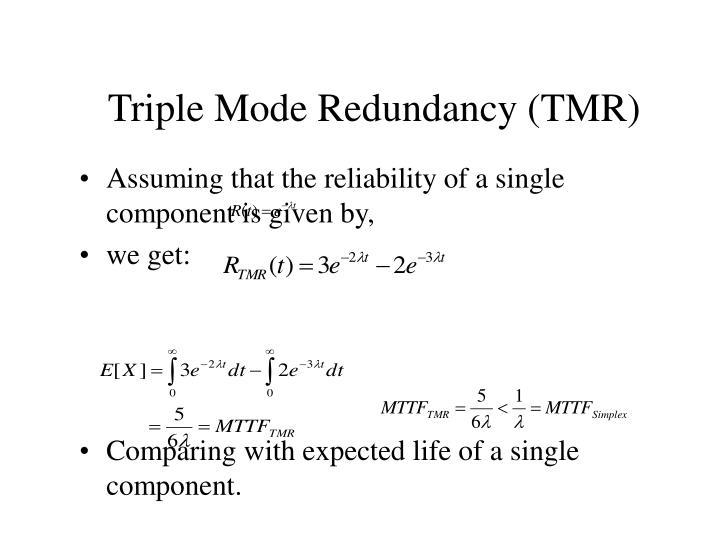 Triple Mode Redundancy (TMR)