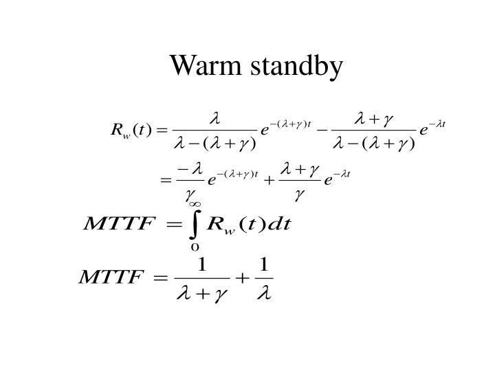 Warm standby