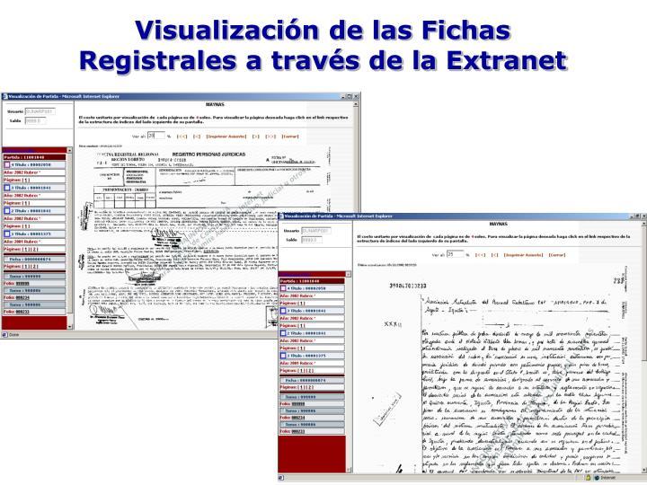 Visualización de las Fichas Registrales a través de la Extranet