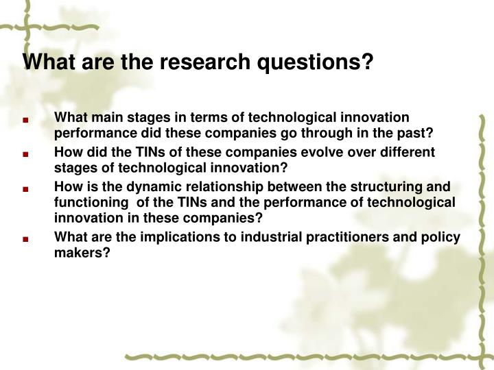 What are the research questions?