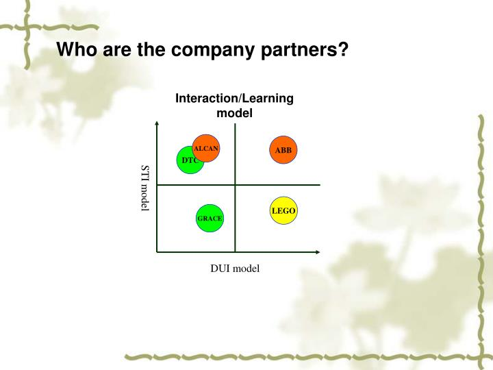 Who are the company partners?