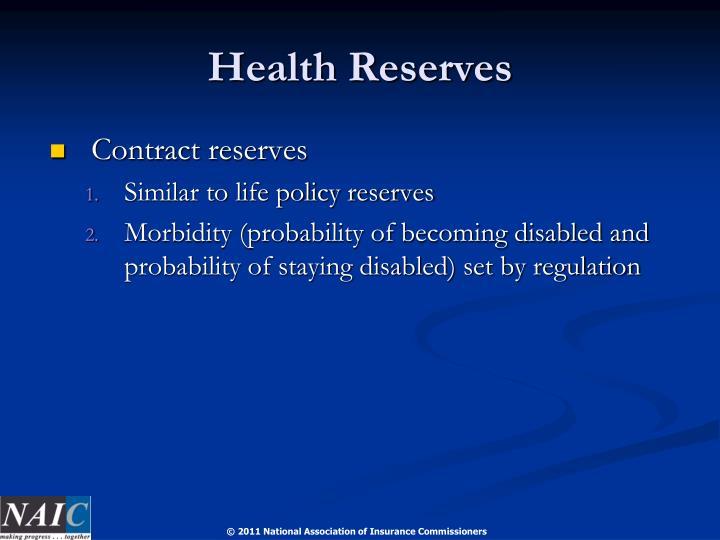 Health Reserves