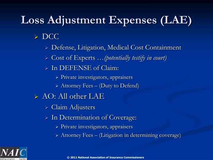 Loss Adjustment Expenses (LAE)