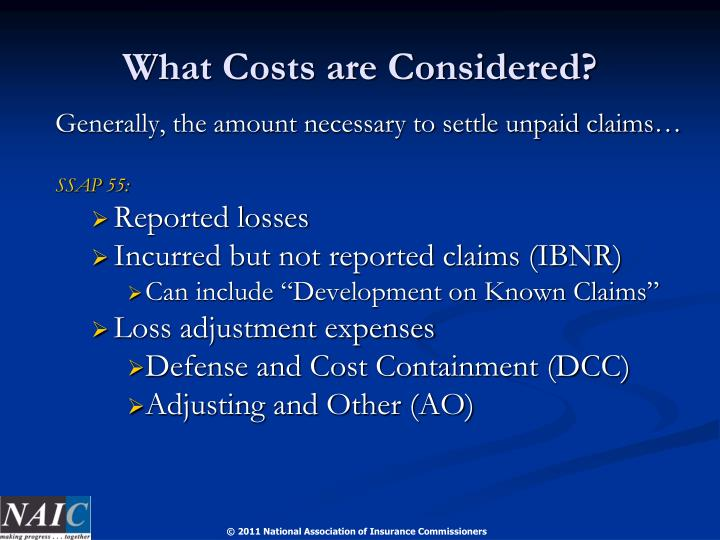 What Costs are Considered?