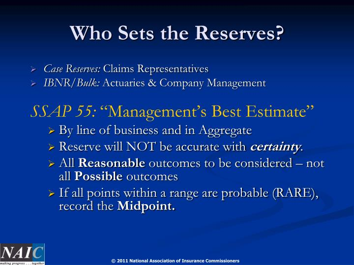 Who Sets the Reserves?