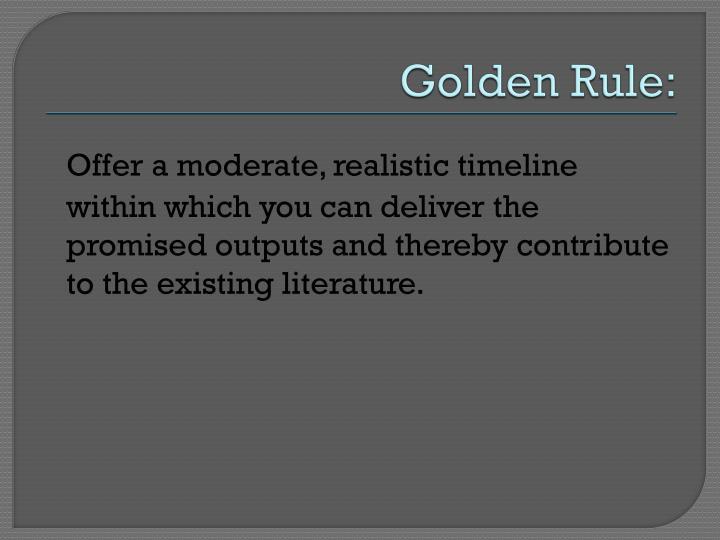 Golden Rule: