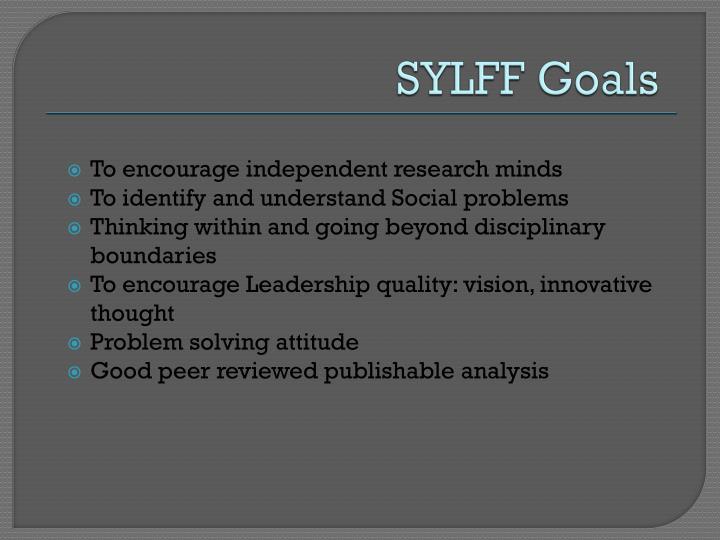SYLFF Goals