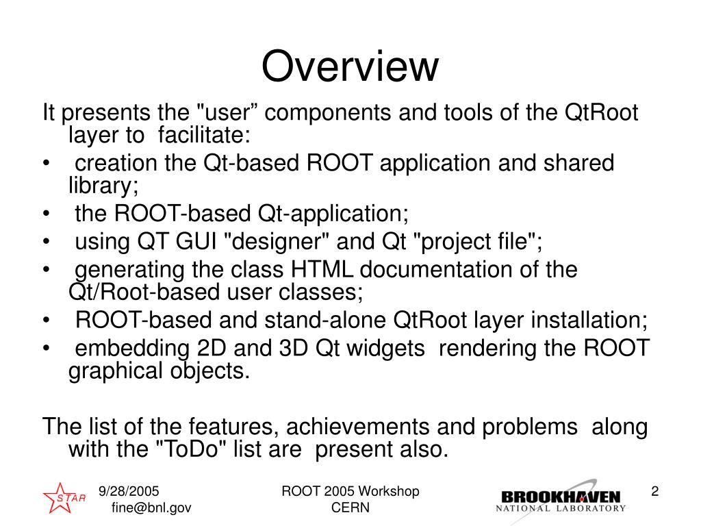 PPT - Qt and ROOT PowerPoint Presentation - ID:3223143