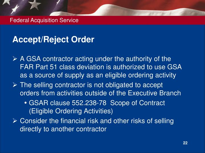 Accept/Reject Order
