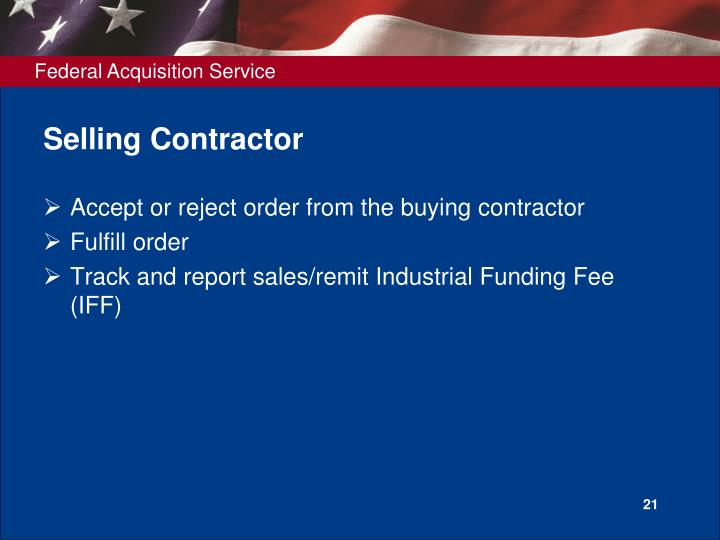 Selling Contractor