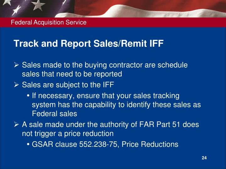 Track and Report Sales/Remit IFF