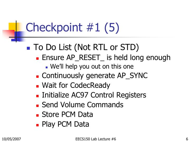 Checkpoint #1 (5)