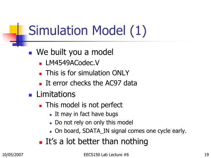 Simulation Model (1)