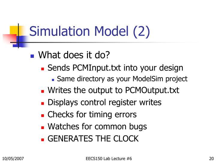 Simulation Model (2)