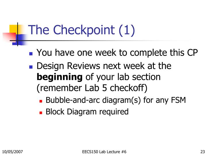 The Checkpoint (1)