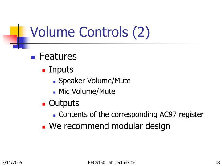 Volume Controls (2)