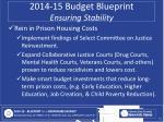 2014 15 budget blueprint ensuring stability3