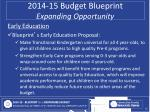 2014 15 budget blueprint expanding opportunity1