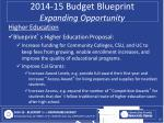 2014 15 budget blueprint expanding opportunity4