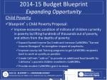 2014 15 budget blueprint expanding opportunity6