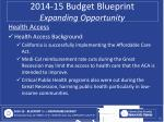 2014 15 budget blueprint expanding opportunity7