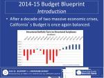 2014 15 budget blueprint introduction