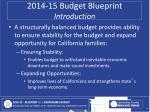 2014 15 budget blueprint introduction1